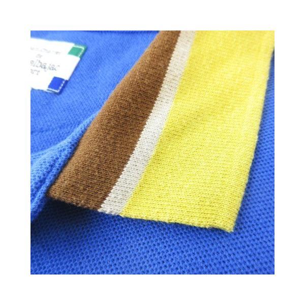 【中古】カステルバジャック CASTELBAJAC sport テニスウェア ポロシャツ 鹿の子 刺繍 半袖 リブ ブルー 青 2 【ベクトル 古着】|vectorpremium|06
