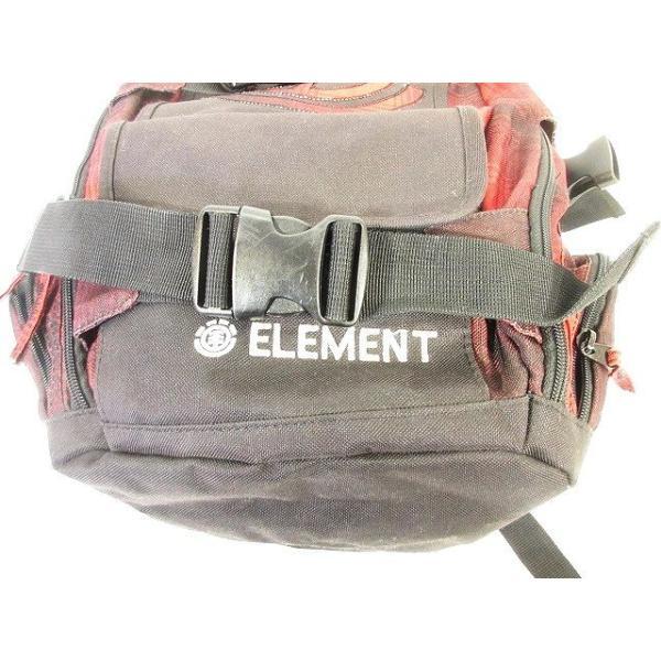 【中古】エレメント ELEMENT リュックサック バックパック チェック 部分メッシュ 赤 黒 レッド ブラック メンズ 【ベクトル 古着】 vectorpremium 07