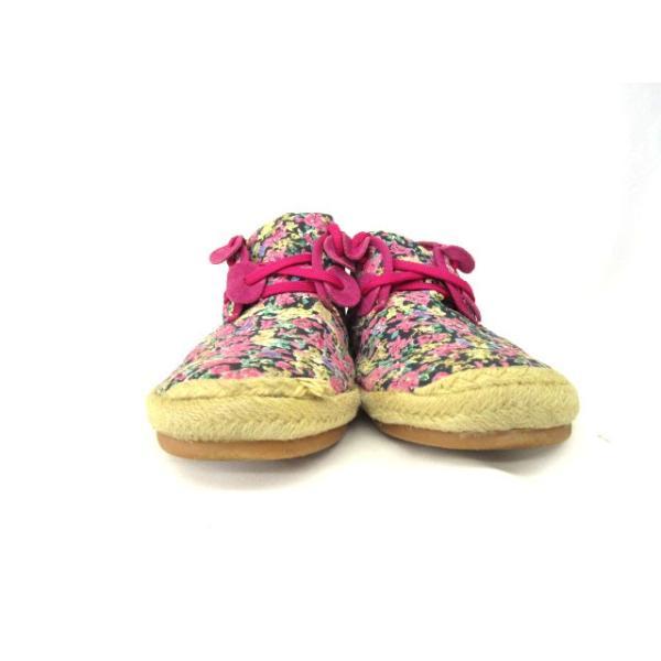 メルシーボークー mercibeaucoup 靴 ハイカット エスパドリーユ 花柄 ピンク ahm レディース【中古】【ベクトル 古着】