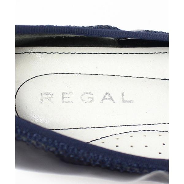 リーガル REGAL シューズ フラット バレエ エナメル 黒 22 /DE12 レディース【中古】【ベクトル 古着】
