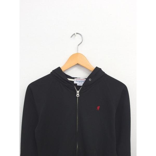 ジムフレックス Gymphlex パーカー ジップアップ 刺繍 ワンポイント 綿 コットン 長袖 14 黒 ブラック /TT14 レディース【中古】【ベクトル 古着】|vectorpremium|04