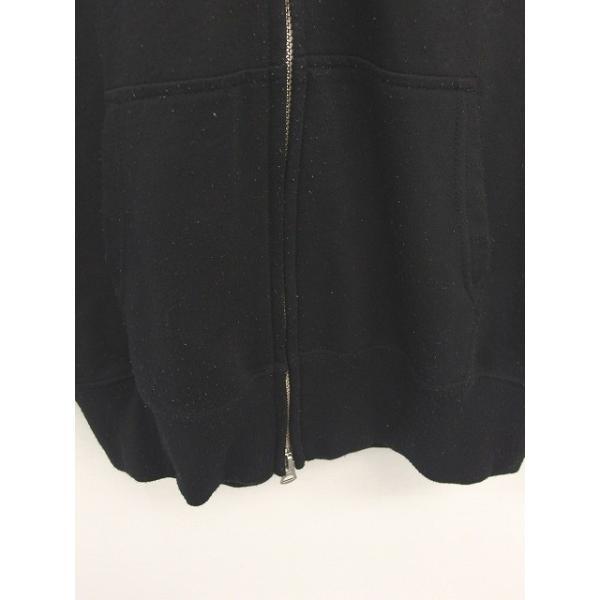 ジムフレックス Gymphlex パーカー ジップアップ 刺繍 ワンポイント 綿 コットン 長袖 14 黒 ブラック /TT14 レディース【中古】【ベクトル 古着】|vectorpremium|06