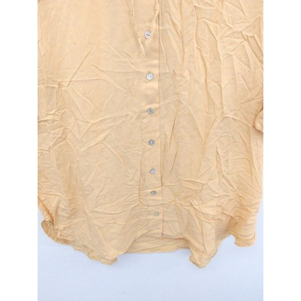 メルベイユアッシュ MERVEILLE H. シャツ ブラウス ステンカラー 襟取り外し 無地 シンプル 七分袖 茶 ベージュ /TT8 レディース|vectorpremium|05
