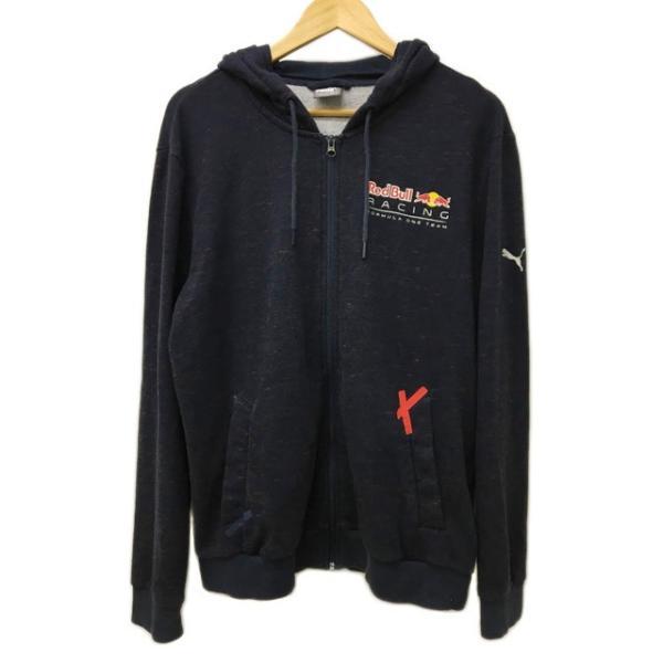 5149d9c370f33 【中古】プーマ PUMA Red Bull Racing レッドブルレーシング パーカー スウェット ジップアップ プリント 長袖