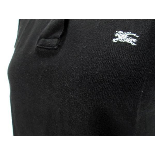 バーバリーブルーレーベル BURBERRY BLUE LABEL ポロシャツ 鹿の子 半袖 38 国内正規 黒 レディース 【中古】【ベクトル 古着】|vectorpremium|06