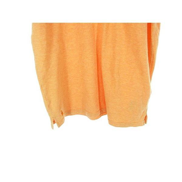 【中古】フレッドペリー FRED PERRY ポロシャツ 半袖 鹿の子 刺繍 ワンポイント ライン M オレンジ /AAO29 メンズ 【ベクトル 古着】|vectorpremium|04