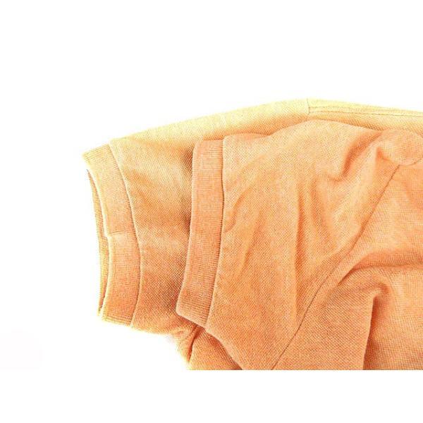 【中古】フレッドペリー FRED PERRY ポロシャツ 半袖 鹿の子 刺繍 ワンポイント ライン M オレンジ /AAO29 メンズ 【ベクトル 古着】|vectorpremium|05