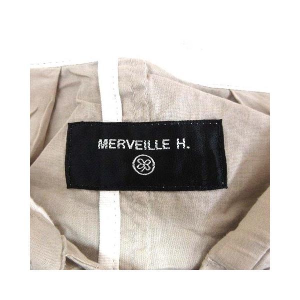 【中古】メルベイユアッシュ MERVEILLE H. ミリタリージャケット スプリング フード ベージュ /YK レディース 【ベクトル 古着】 vectorpremium 06