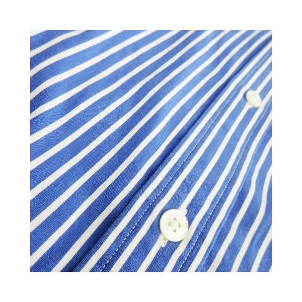 【中古】ラルフローレン RALPH LAUREN シャツ 長袖 ストライプ 通勤 ビジネス 11 青 ブルー /CK9 ★ レディース 【ベクトル 古着】|vectorpremium|05