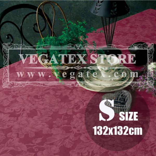テーブルクロス ビニール おしゃれ VEGATEX グレープ ワイン<S>正方形132×132cm vegatex-store