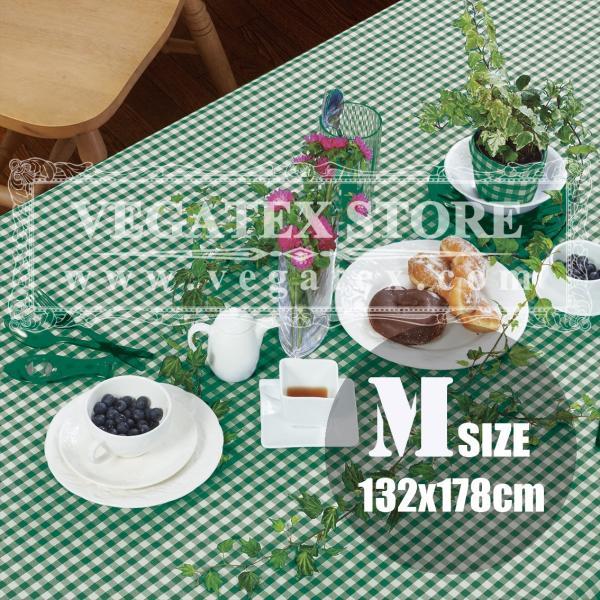 テーブルクロス ビニール おしゃれ VEGATEX ジッパー ライムグリーン<M>132×178cm vegatex-store