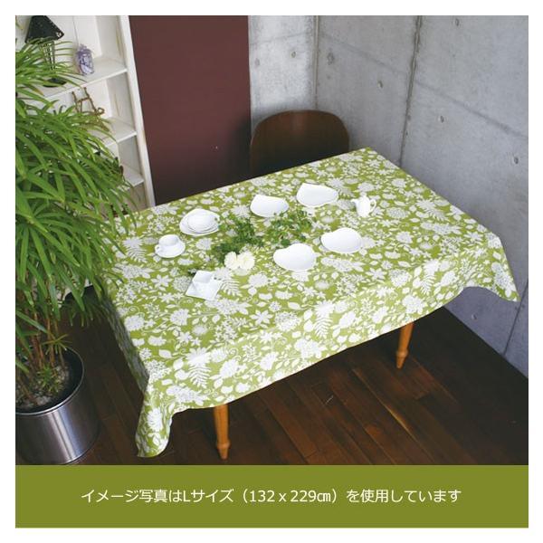テーブルクロス ビニール 北欧 VEGATEX ベロニカ グリーン<M>132×178cm|vegatex-store|02