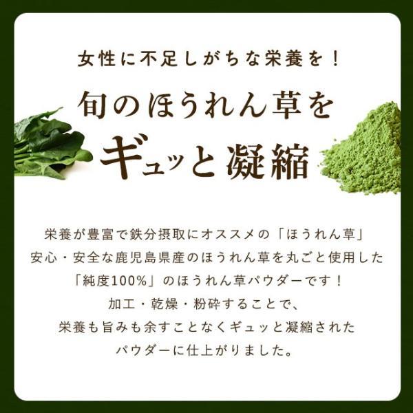 野菜パウダー ほうれんそう 鹿児島県産ほうれん草使用 40g 生パスタやシチューなどに ポイント消化 得トクセール 食品 お試し オープン記念|vegeko|04