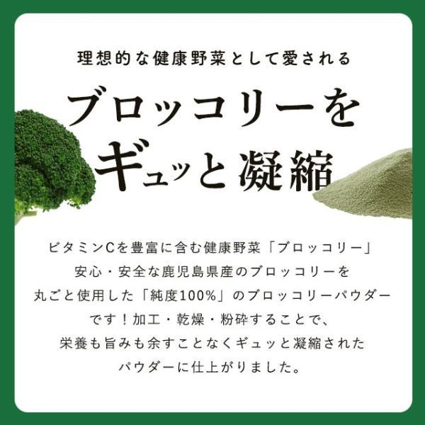 野菜パウダー ブロッコリー 鹿児島県産ブロッコリー使用 40g ポイント消化 得トクセール 食品 お試し オープン記念|vegeko|04