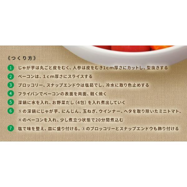 だし 出汁 野菜だし 野菜出汁 だしパック 野菜 国産野菜 九州野菜 味噌汁 鍋料理 パスタ 野菜出汁35g7g10パック|vegeko|16