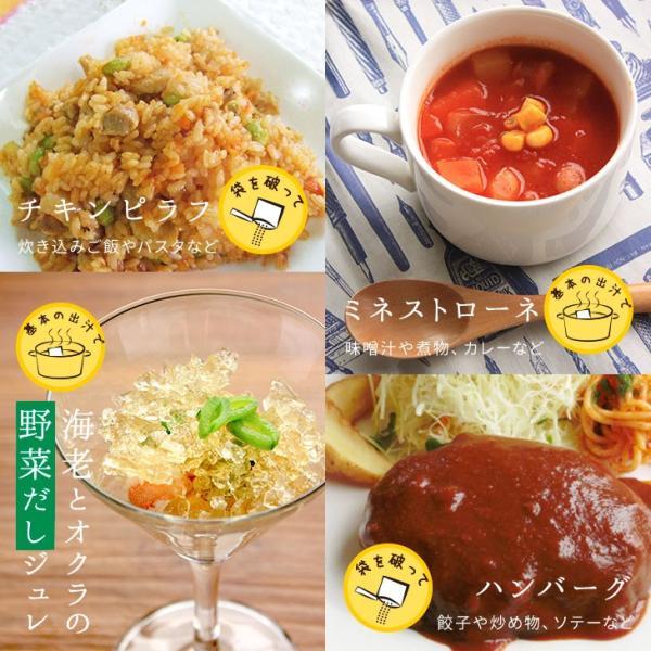 だし 出汁 野菜だし 野菜出汁 だしパック 野菜 国産野菜 九州野菜 味噌汁 鍋料理 パスタ 野菜出汁35g7g10パック|vegeko|18