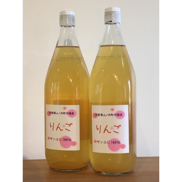 りんごジュース 100%果汁 ストレート 堀米さん家のリンゴジュース Apple Juice 1リットル瓶×2本入れ ギフト 敬老の日 お歳暮