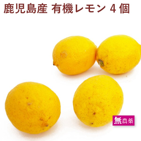 無農薬 有機レモン 4個 鹿児島県産 送料別
