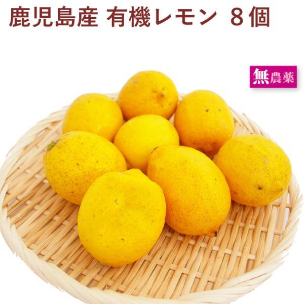 無農薬 有機レモン 8個 鹿児島県産 送料込