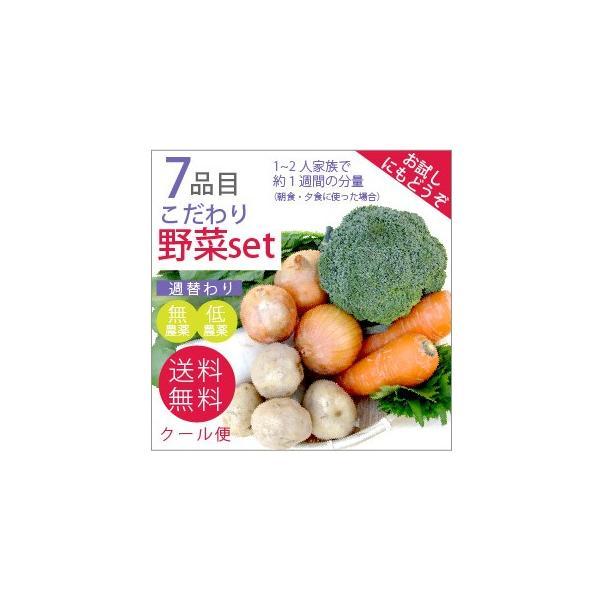無農薬 低農薬 7品目野菜セット 少人数 お試し向け 送料無料|vegetable-heart
