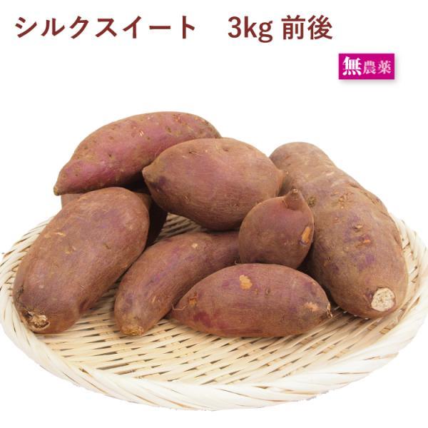 さつまいも シルクスイート 3kg 茨城県産 低農薬栽培  送料込