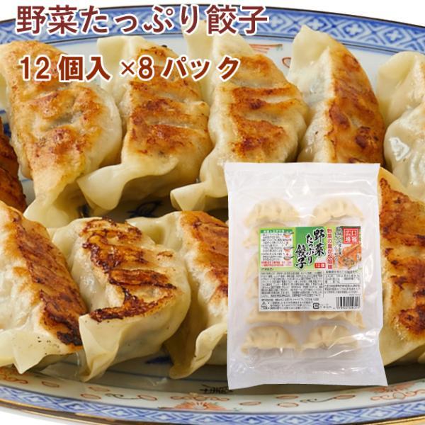 冷凍惣菜 時短ごはん 口福広場 野菜たっぷり餃子 192g(12個) 8パック 送料込