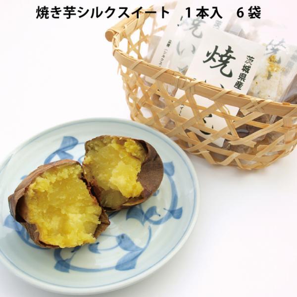 茨城農産 焼き芋 シルクスイート 1本入 6袋 送料込