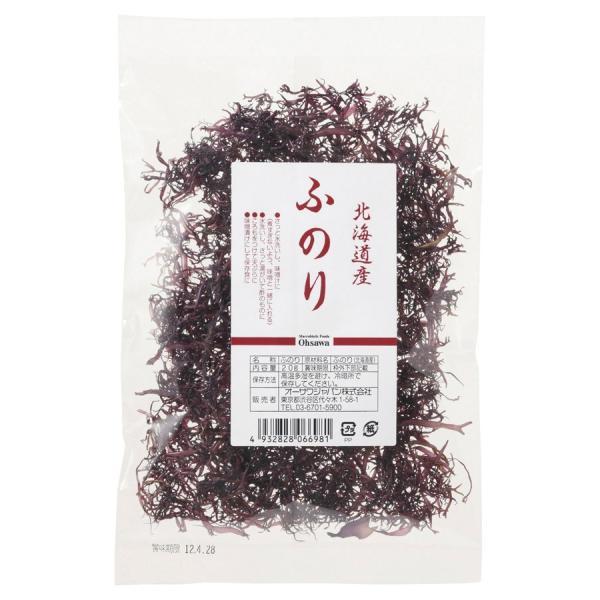 オーサワ オーサワの北海道産 ふのり 20g 20袋 送料込