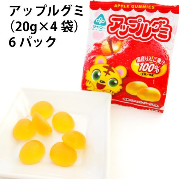 サンコー アップルグミ (20g×4袋)×6パック 送料込