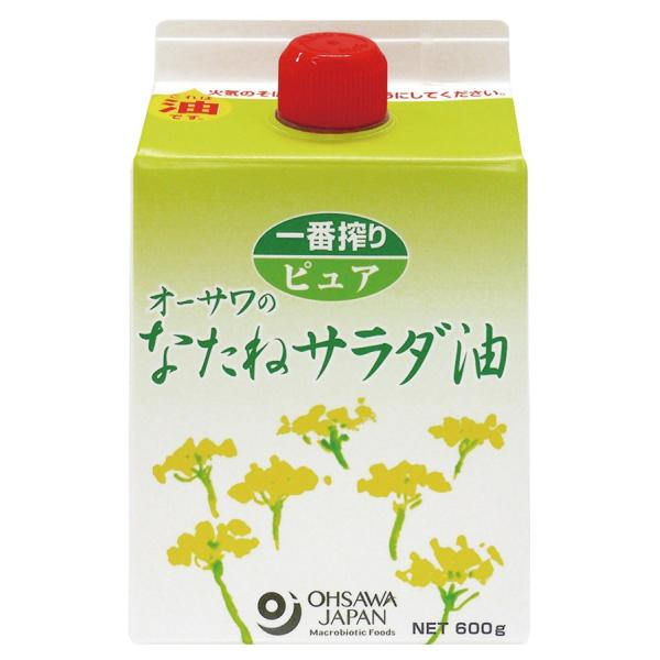 オーサワ オーサワのなたねサラダ油(紙パック) 600g 4本 送料込