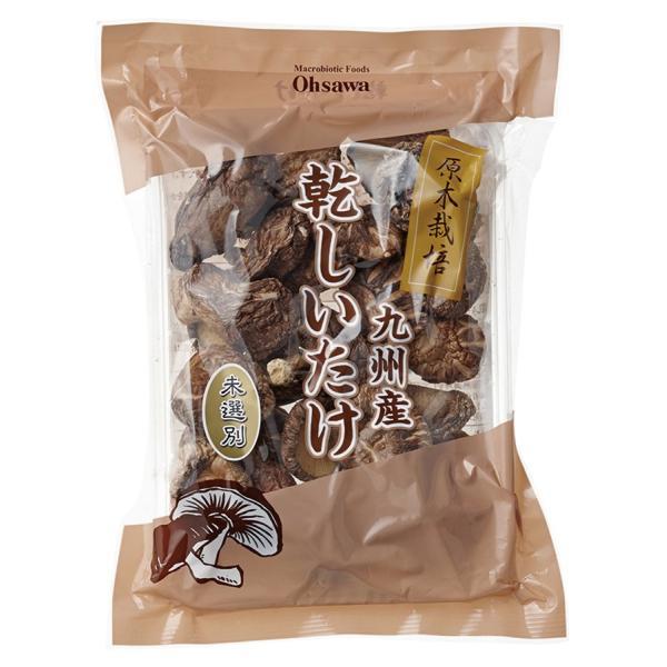 乾燥 きのこ 椎茸  オーサワ 九州産乾しいたけ(未選別) 90g 2袋 送料込