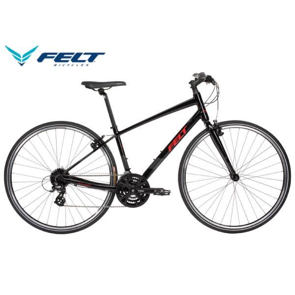クロスバイク 2021 FELT フェルト VERZA SPEED 50 ベルザスピード50 ブラック/レッド 24段