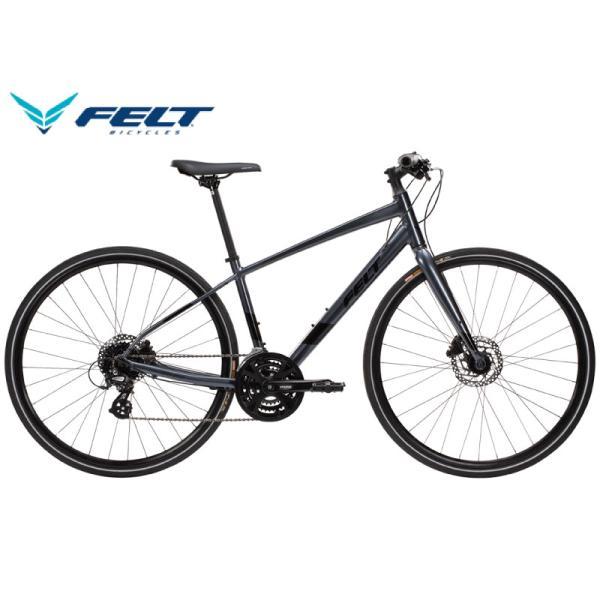 (選べる特典付き!)クロスバイク 2021 FELT フェルト VERZA SPEED 40 ベルザスピード40 チャコール 24段変速 DISC BRAKE
