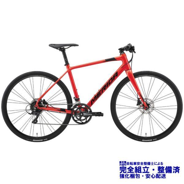 (選べる特典付)クロスバイク 2021 MERIDA メリダ GRAN SPEED 200-D グランスピード200D ゴールデンレッド(ブラック)【ER43】 SHIMANO SORA 700C