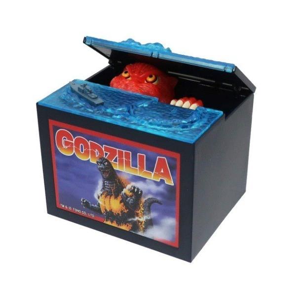 電動貯金箱バーニングゴジラバンクゴジラGODZILLAシャイン 版プレゼント