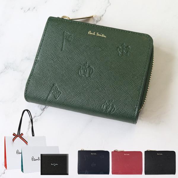 83b680594ac7 ポールスミス 財布 メンズ 折り財布 ポールドローイング2 ラウンドファスナー 2つ折り財布 PSC954 Paul