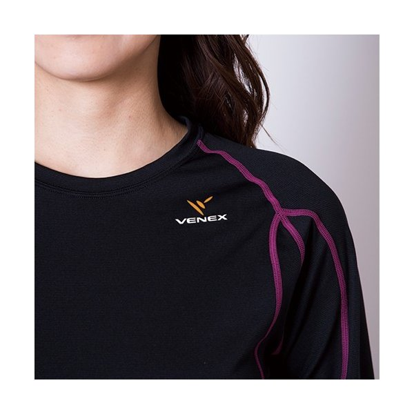 VENEX レディース リチャージ+(プラス) ロングスリーブ ベネクス リカバリーウェア 休息専用 疲労回復 venex 13