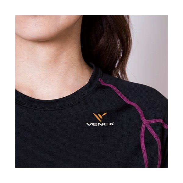 VENEX レディース リチャージ+(プラス) ショート 上下セット ベネクス リカバリーウェア 休息専用 疲労回復|venex|14