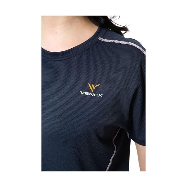 【 送料無料 】 VENEX レディース リラックス ショートスリーブ Tシャツ ベネクス リカバリーウェア メッシュ素材 休息専用 疲労回復 venex 03