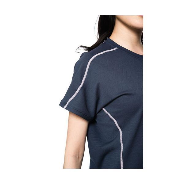 【 送料無料 】 VENEX レディース リラックス ショートスリーブ Tシャツ ベネクス リカバリーウェア メッシュ素材 休息専用 疲労回復 venex 05