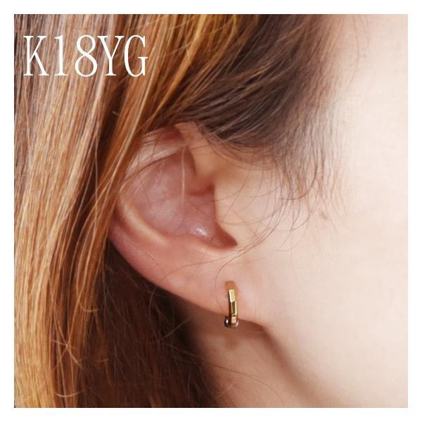 イヤリング K18 コンビ デカゴン ピアリング / ファッション ジュエリー アクセサリー レディース ダイアモンド プレゼント 贈り物 送料無料