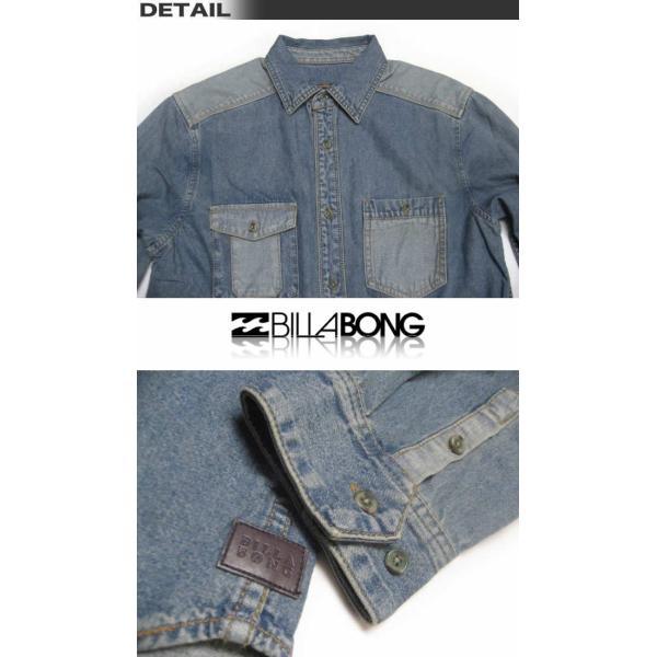 ビラボン メンズ デニム シャツ BILLABONG アウトレット AE012-103/サーフブランド|venice|02