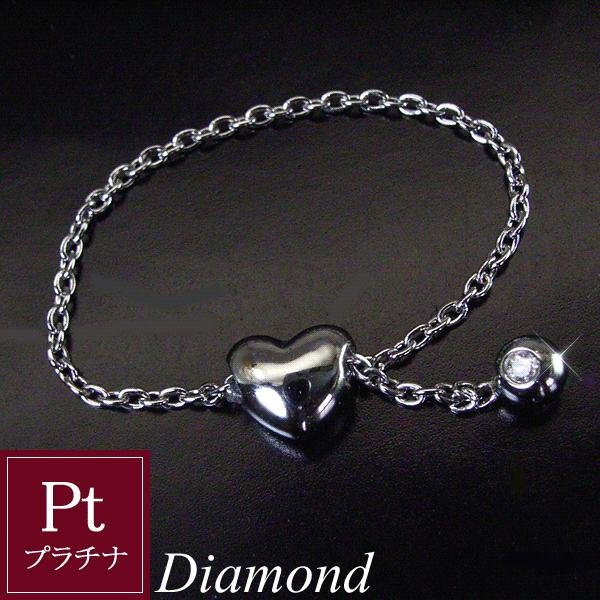 ダイヤモンド リング プラチナ ハート 3営業日前後の発送予定