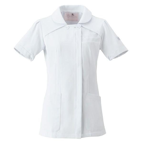 ナースウェア チュニック HI207-1 ホワイト 白衣 医療 衛生 作業着・服|verdexcel-medical