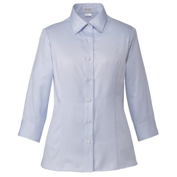 シャツブラウス (七分袖) ESB-593 6 ブルー カーシーカシマ KARSEE オフィスウェア 事務服|verdexcel-medical