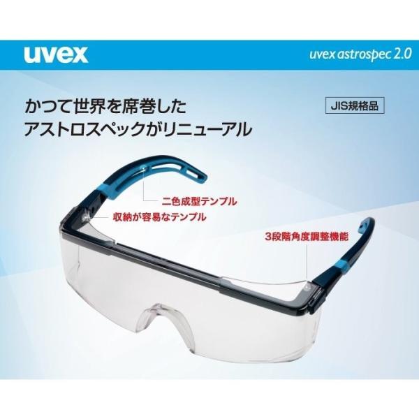 保護めがね uvex ウベックス X-9164 アストロスペック 2.0 フレームカラー ブルー JIS規格品 verdexcel-medical 02