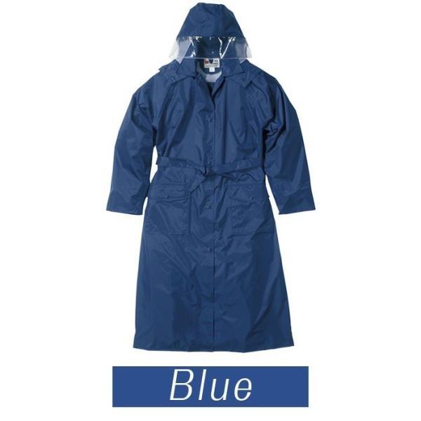 レインタックレインコート 3304 アイボリー ブルー 105cm〜130cm レインウェア 雨具 カッパ 現場|verdexcel-medical|02