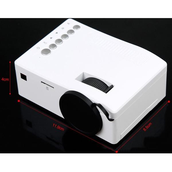 プロジェクター LED ホームシアター ミニ USB対応 フルHD HDMI ホームシネマ PC テレビ 映画 コンパクト SD USB 投影機 小型 軽量|versos|06