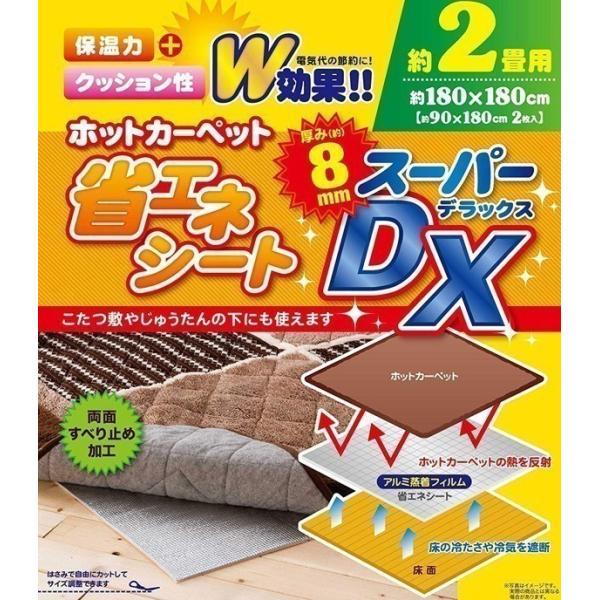 アルミシート 断熱 厚手 8mm 2畳 断熱シート 床 断熱マット 保温シート 保温マット 省エネシート スーパーDX ENE-SPDX2 180×180cm
