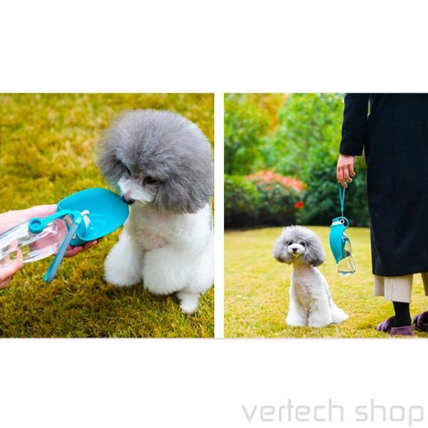 ペット用携帯ボトル☆おしゃれなウォーターボトル 給水 マナー水 犬 猫 水入れ 水飲み シリコン ボトルホルダー ペットボトル 水筒 お散歩用|vertech-shop|04